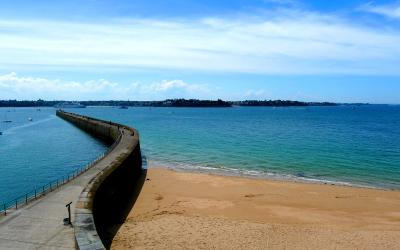 Beach in St-Malo